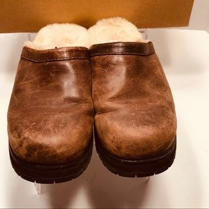 UGG Shoes - UGG- fully sheepskin lined rubber sole clogs- 8